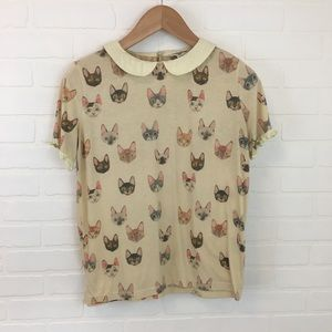 ModCloth Pepaloves Oohs and Paws Cat Shirt